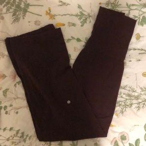 Lululemon Wide Leg Athletic Maroon Sweatpants